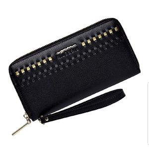 New Black Leather Wallet With Dust Cover